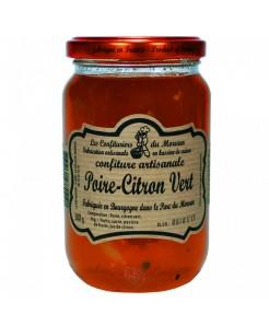 Confiture artisanale poire/citron vert 380g