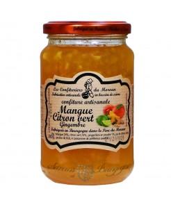 Confiture artisanale mangue/citron vert 380g