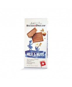 Tablette chocolat suisse au lait avec noisettes 100g