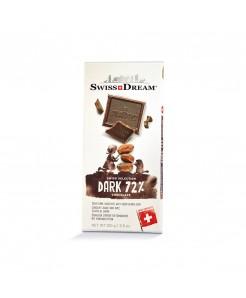 Tablette chocolat suisse noir avec éclats de cacao 100g