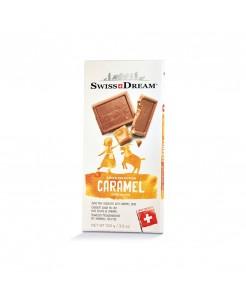 Tablette chocolat suisse au lait avec éclats de caramel