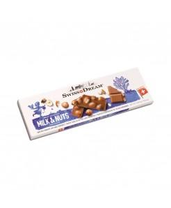 Tablette chocolat suisse au lait avec noisettes entières 300g