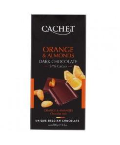 Tablette chocolat noir orange & amandes 100g