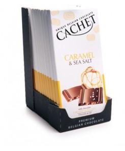 Tablette chocolat lait caramel& fleur de sel 100g