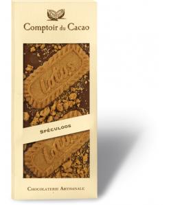 Tablette chocolat lait avec spéculoos 100g
