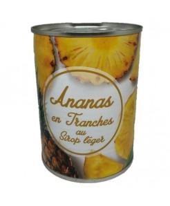 Ananas en tranches au sirop 565g