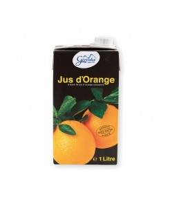 Jus d'orange à base de jus d'oranges concentrées en brique 1l