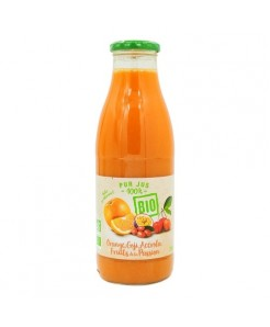 Pur jus BIO d'oranges, Goji, Acerola et fruits de la passion 75cl