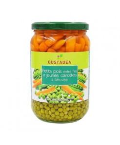 Petits pois extra-fins et jeunes carottes 660g