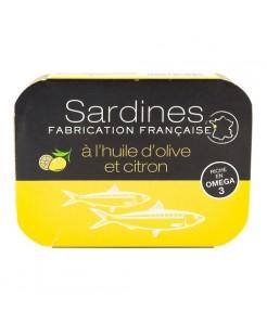 Sardines à l'huile d'olive et citron 115g