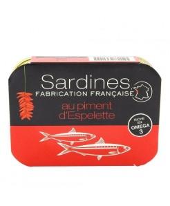 Sardines au piment d'espelette 115g