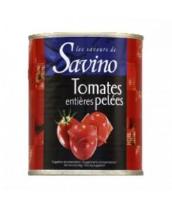 Tomates entières pelées 1/4
