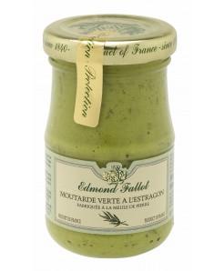 Moutarde verte à l'estragon fabriqué à la meule de pierre 105g