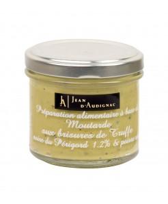 Préparation alimentaire à base moutarde aux brisures de truffe noire du Périgord 100g