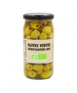 Olives vertes dénoyautées BIO 370ml
