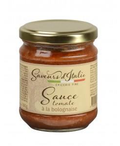 Sauce tomate à la bolognaise à la pulpe de tomates et viande de boeuf 180g