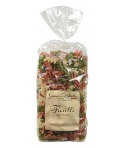 Fusillini artisanal tricolore à la semoule de blé dur, oeuf et légumes déshydratés 500g