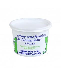 Crème fraîche fermière crue à la louche