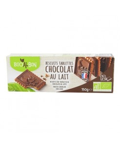 Biscuits tablette chocolat au lait BIO 150g