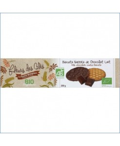 Biscuits nappés chocolat lait BIO 200g